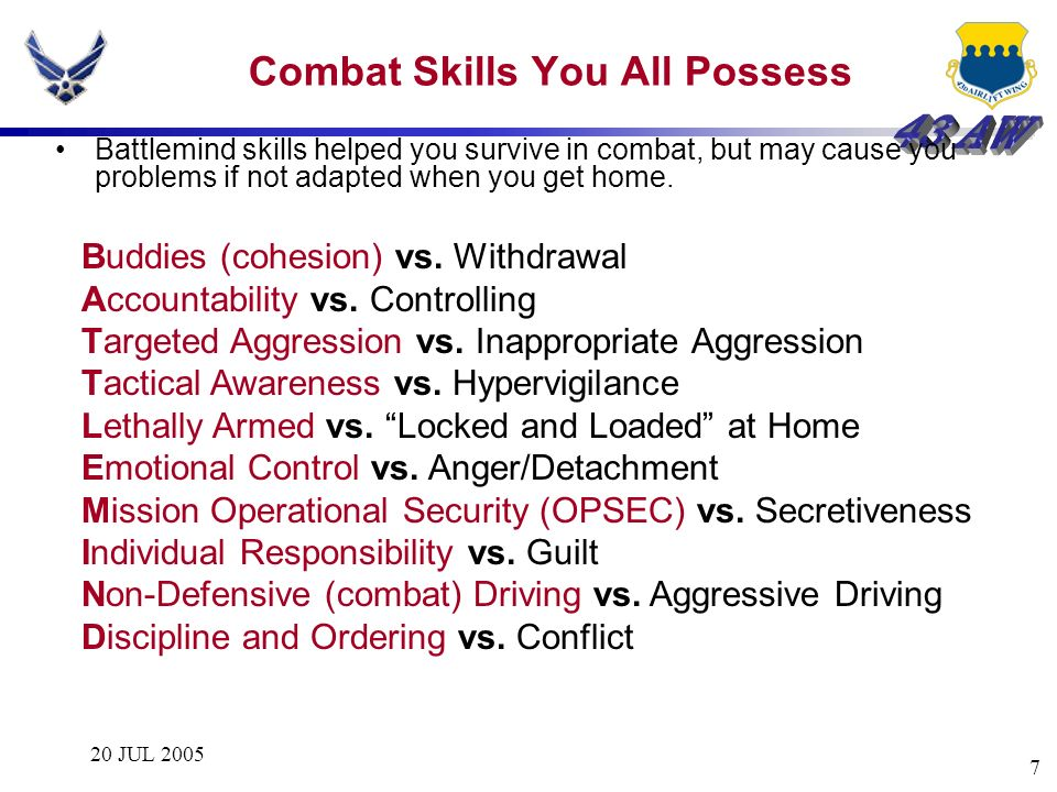 Combat Skills You All Possess