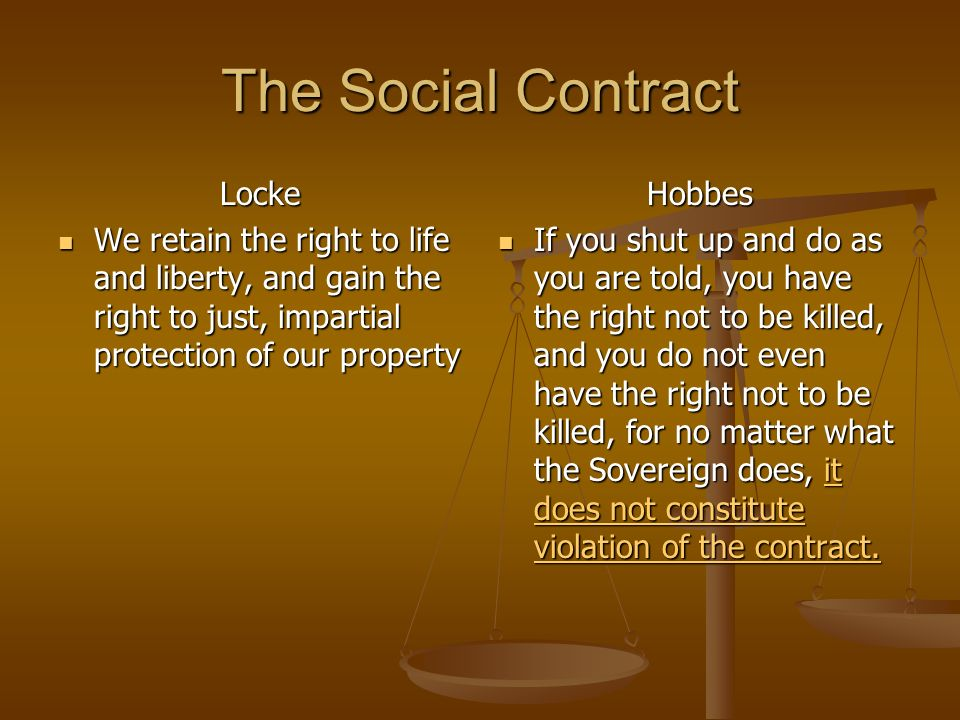 The Social Contract Locke