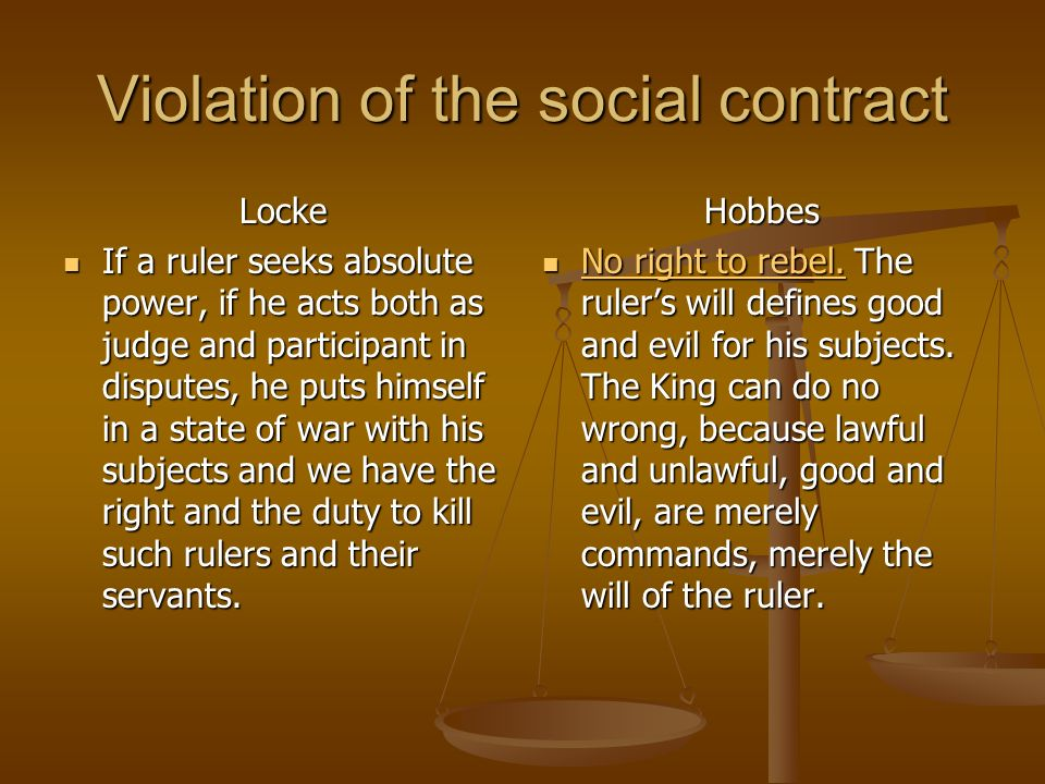Violation of the social contract