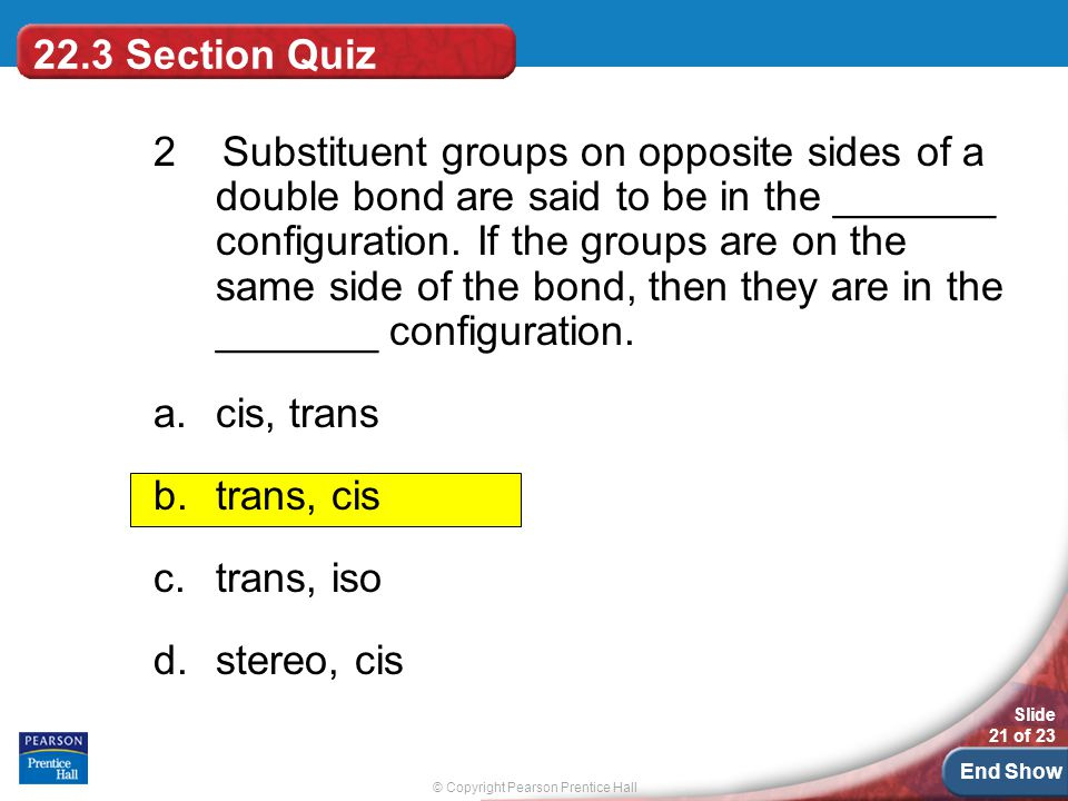 22.3 Section Quiz