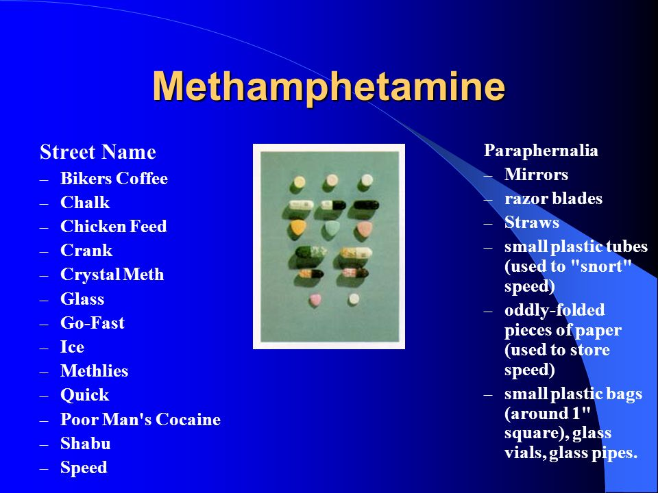 Methamphetamine Street Name Paraphernalia Mirrors Bikers Coffee Chalk
