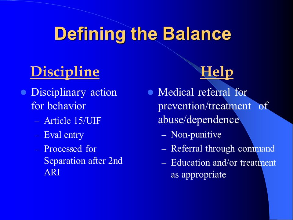Defining the Balance Discipline Help Disciplinary action for behavior
