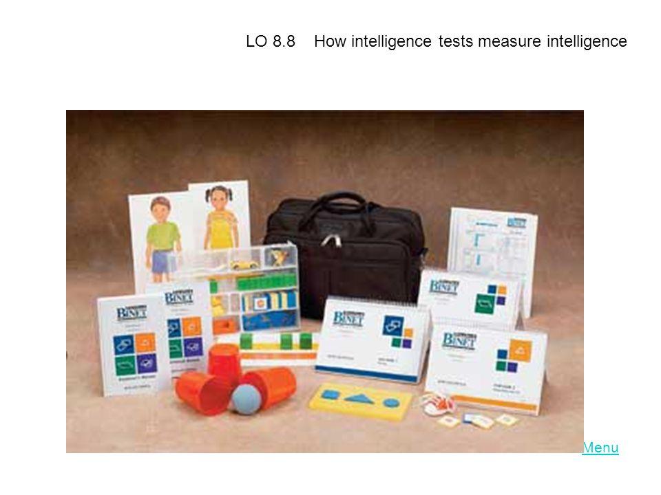LO 8.8 How intelligence tests measure intelligence