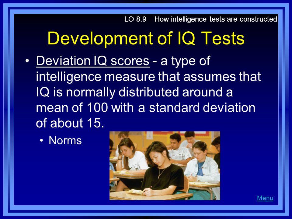 Development of IQ Tests