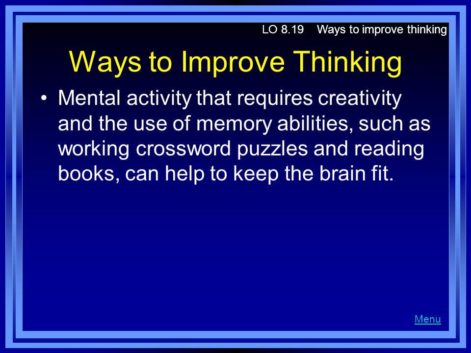 Ways to Improve Thinking