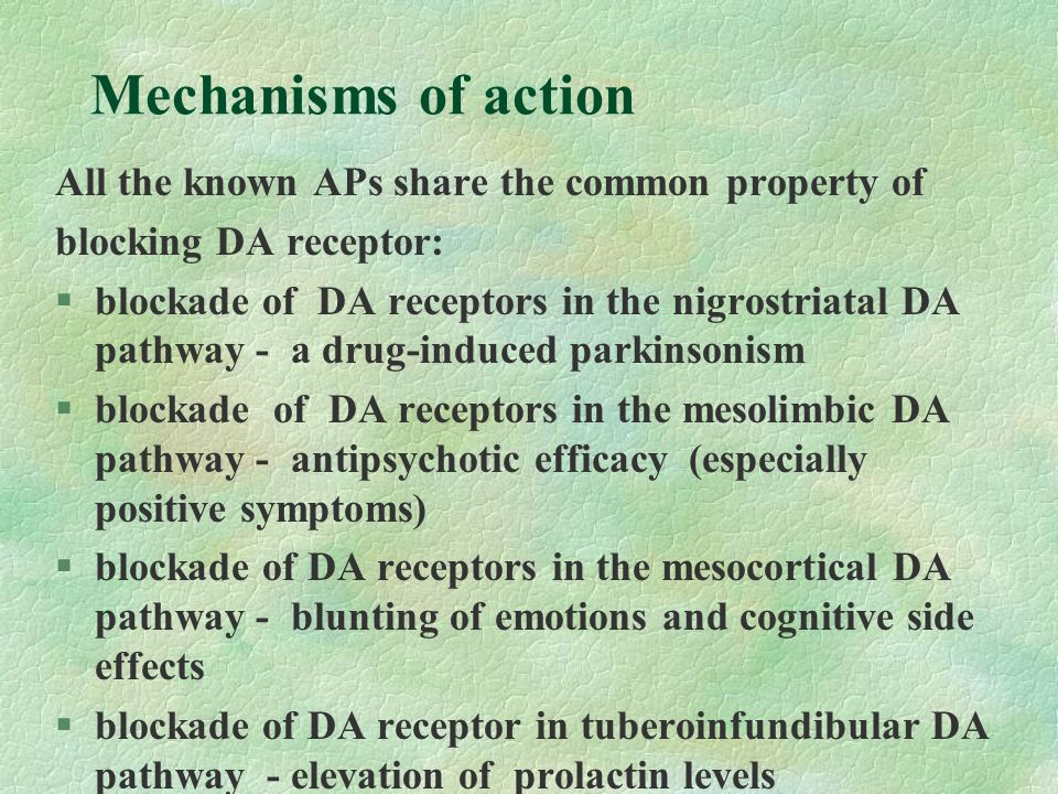 Mechanisms of action All the known APs share the common property of