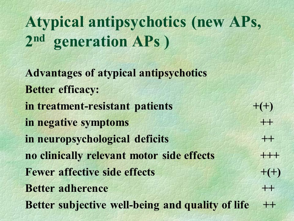Atypical antipsychotics (new APs, 2nd generation APs )