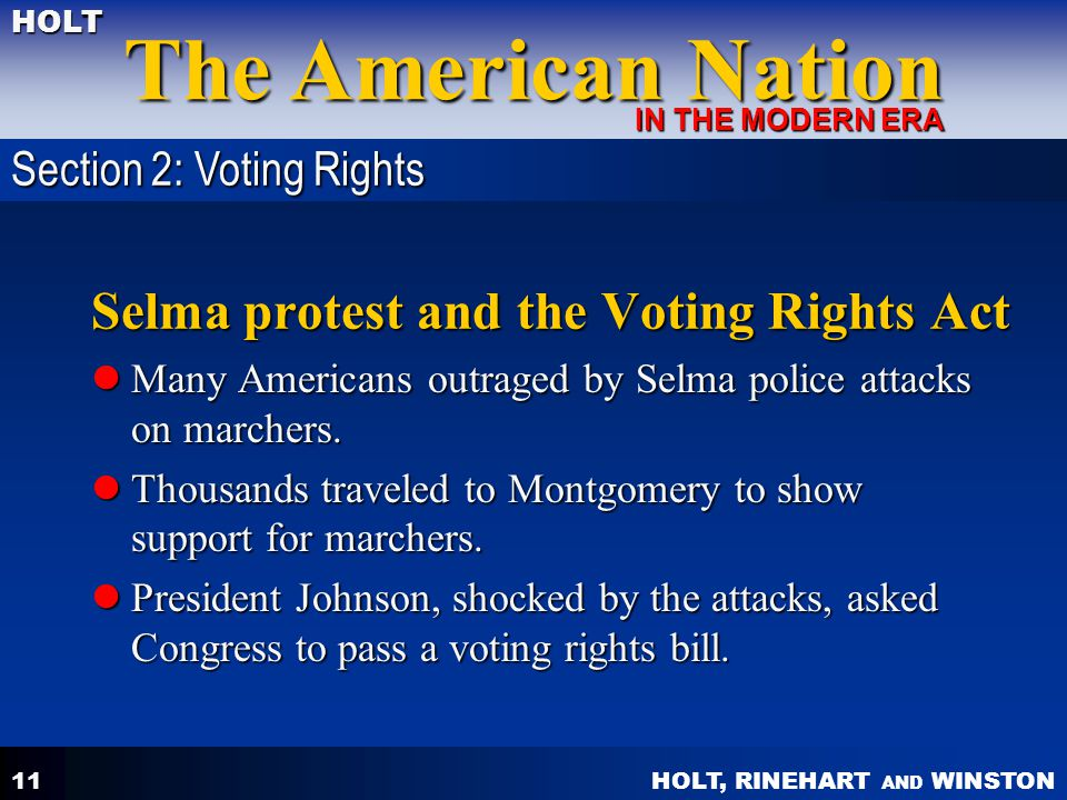 Selma protest and the Voting Rights Act