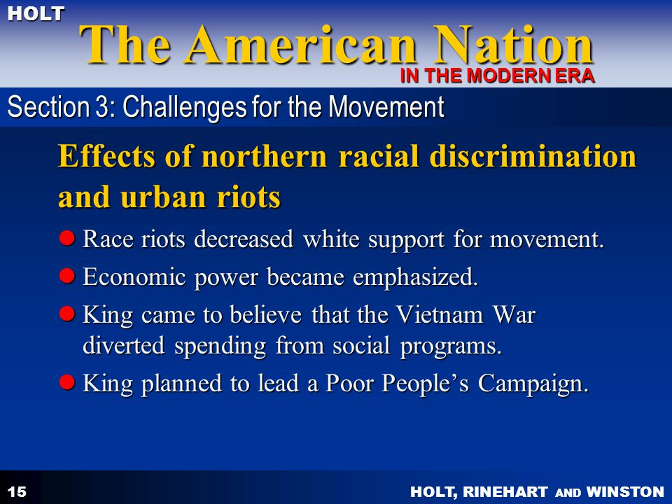 Effects of northern racial discrimination and urban riots