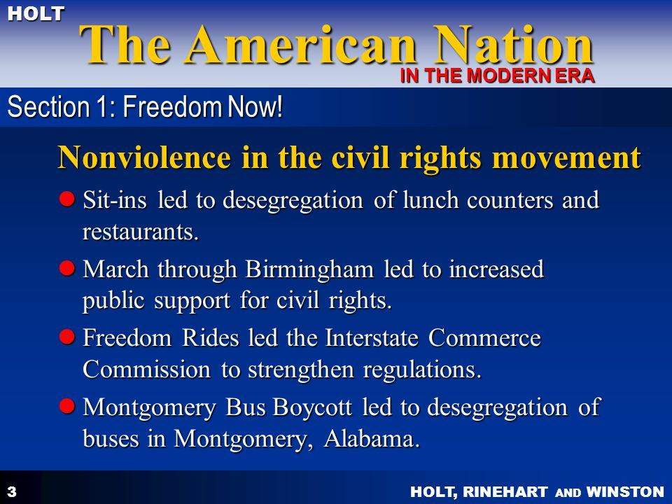 Nonviolence in the civil rights movement