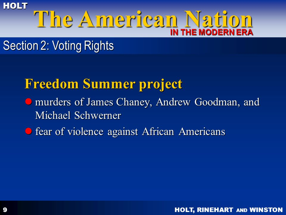Freedom Summer project
