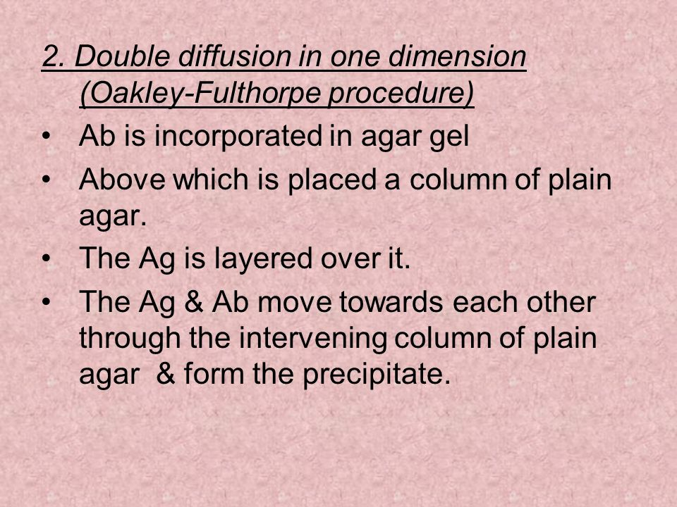 2. Double diffusion in one dimension (Oakley-Fulthorpe procedure)