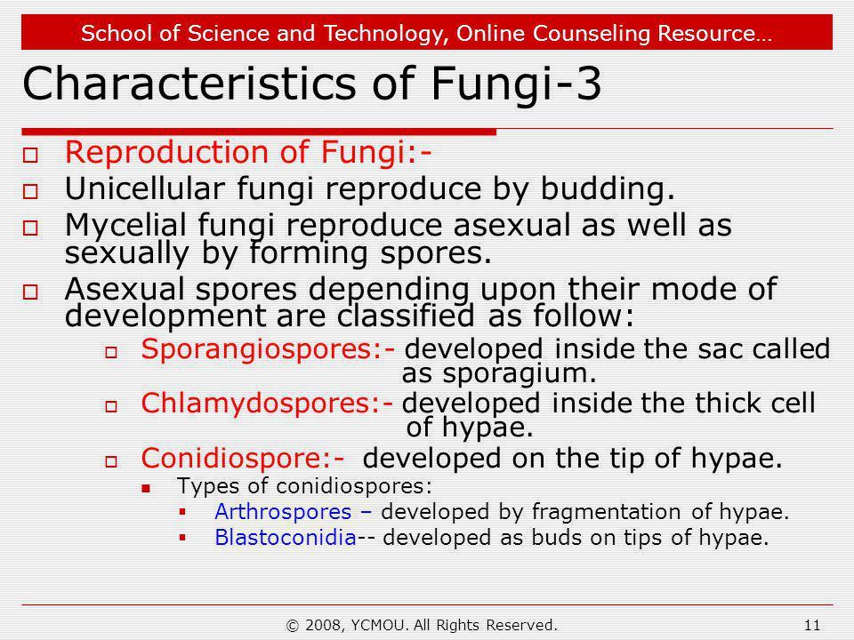 Characteristics of Fungi-3