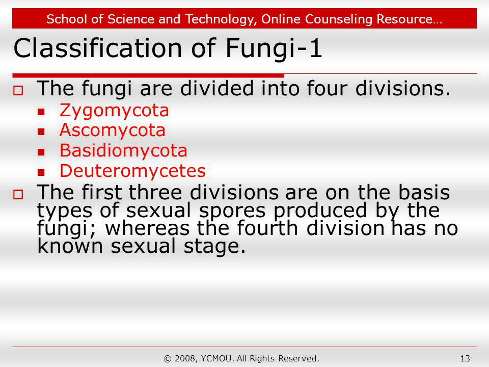 Classification of Fungi-1
