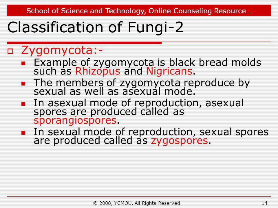 Classification of Fungi-2
