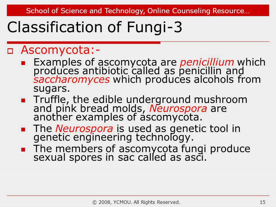 Classification of Fungi-3