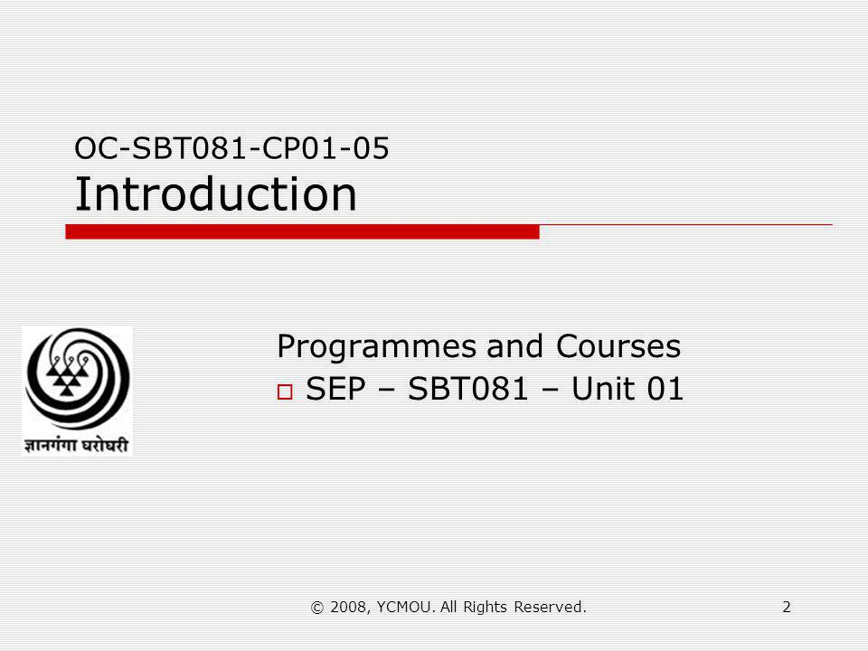 OC-SBT081-CP01-05 Introduction
