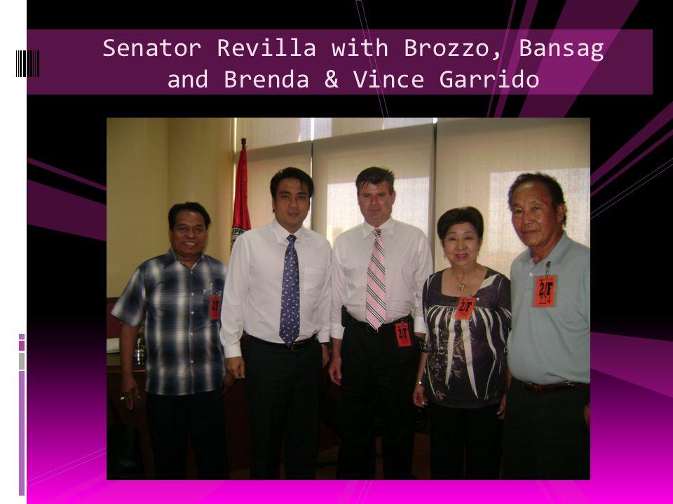 Senator Revilla with Brozzo, Bansag and Brenda & Vince Garrido