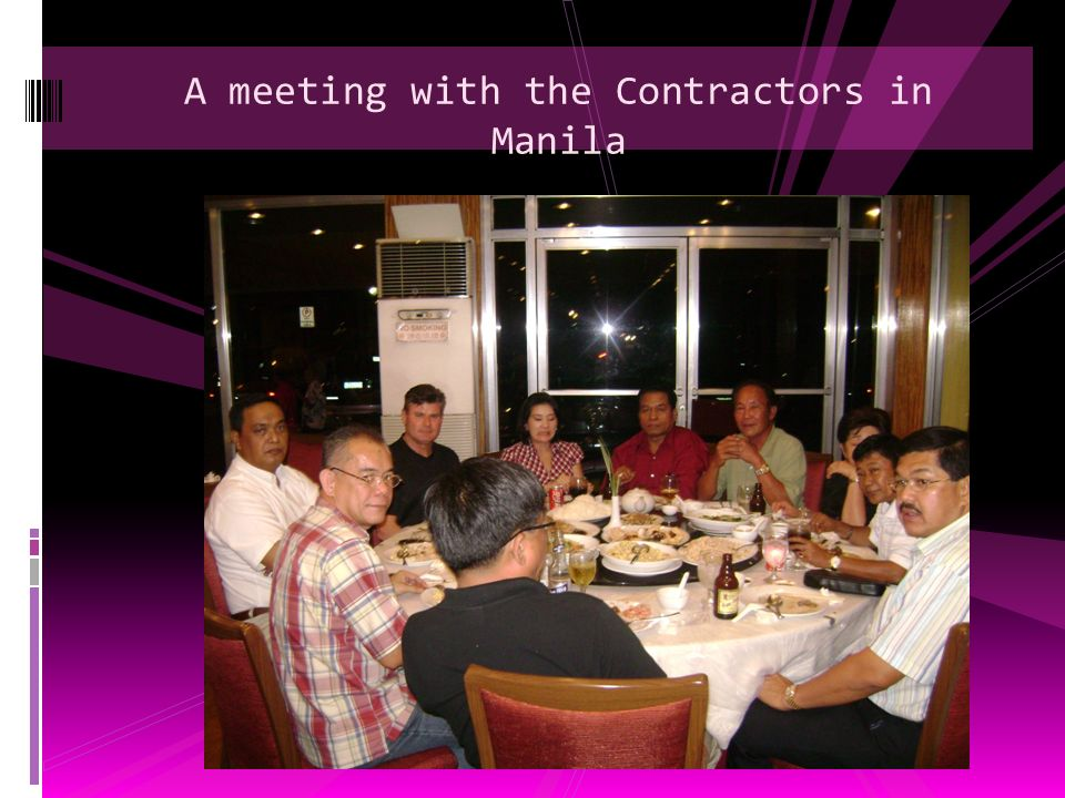 A meeting with the Contractors in Manila