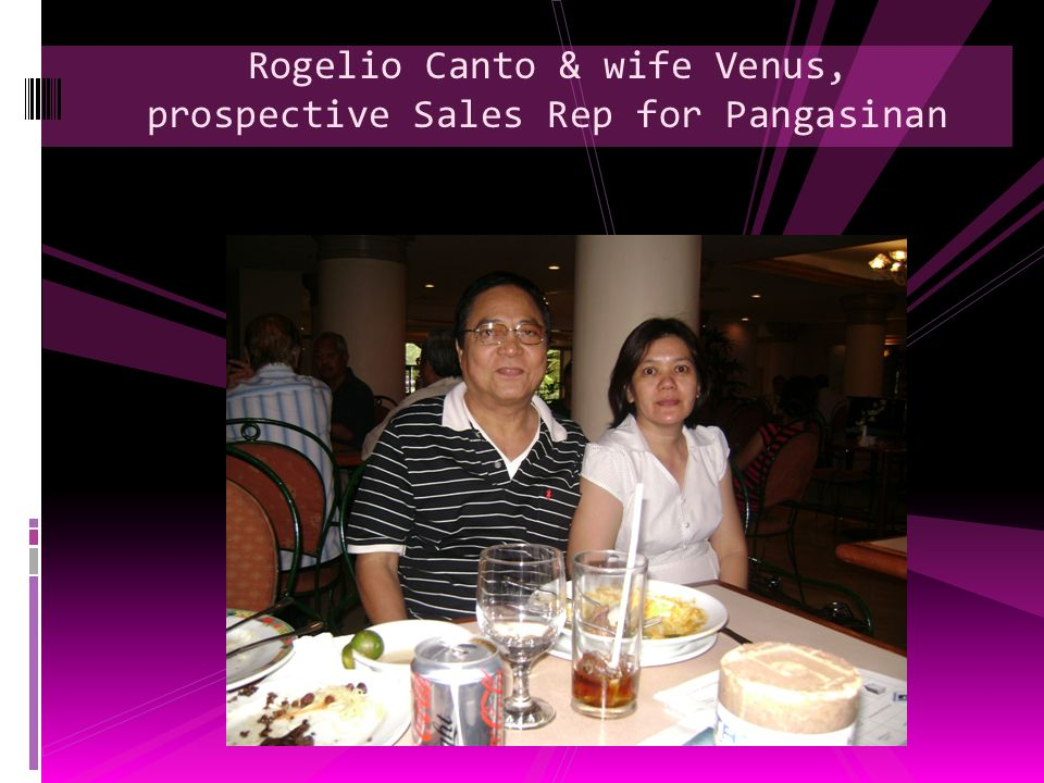 Rogelio Canto & wife Venus, prospective Sales Rep for Pangasinan