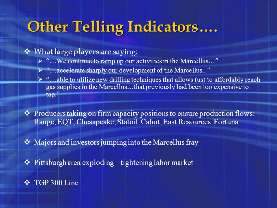 Other Telling Indicators….