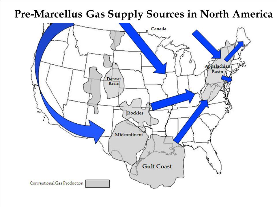 Pre-Marcellus Gas Supply Sources in North America