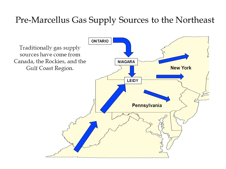 Pre-Marcellus Gas Supply Sources to the Northeast