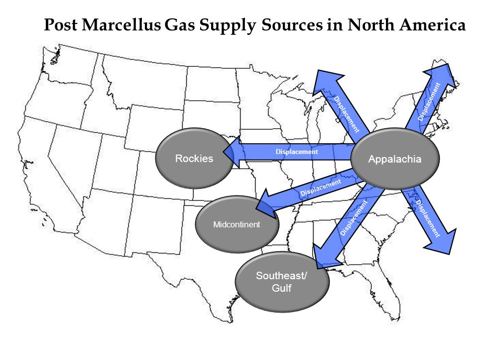 Post Marcellus Gas Supply Sources in North America