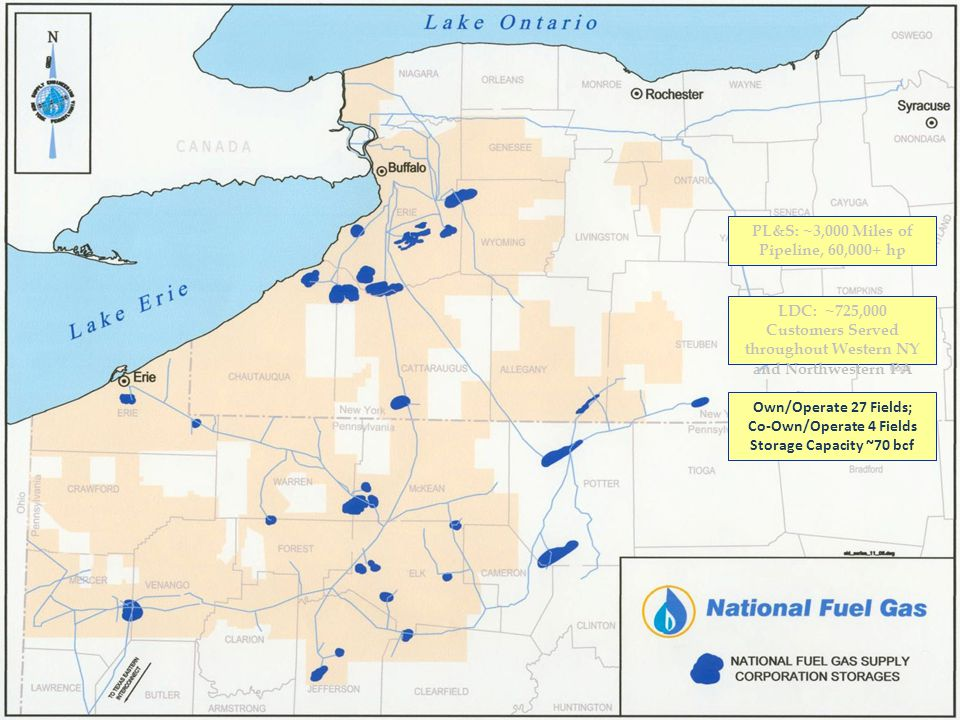 PL&S: ~3,000 Miles of Pipeline, 60,000+ hp Co-Own/Operate 4 Fields