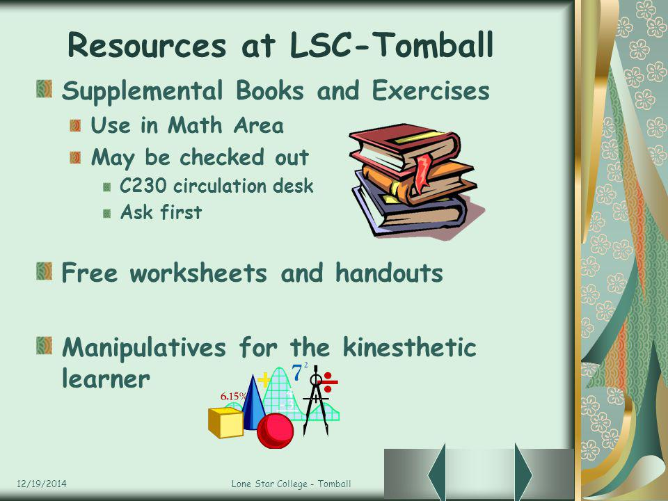 Resources at LSC-Tomball