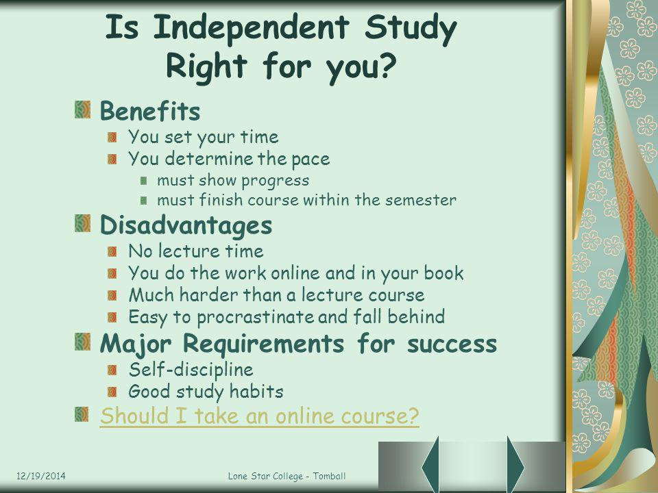 Is Independent Study Right for you