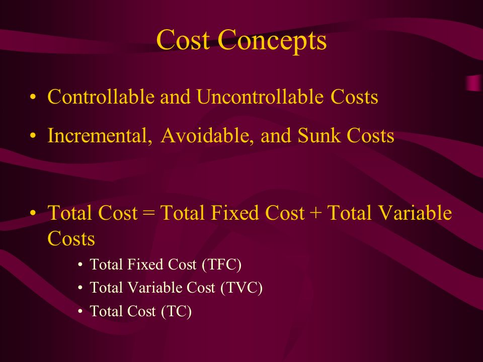 Cost Concepts Controllable and Uncontrollable Costs