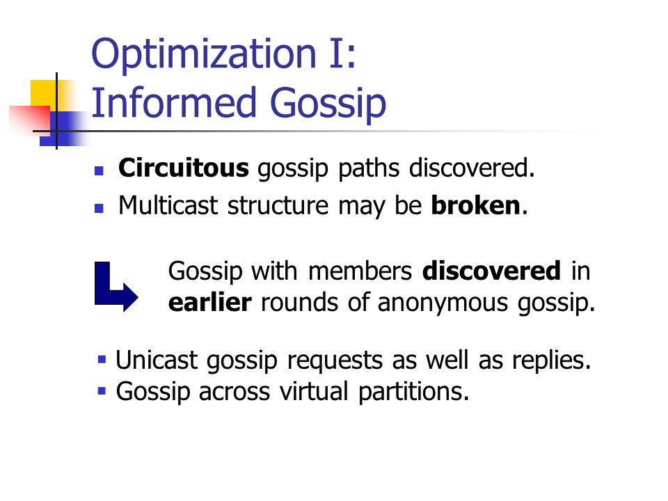 Optimization I: Informed Gossip
