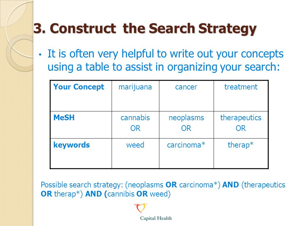 3. Construct the Search Strategy