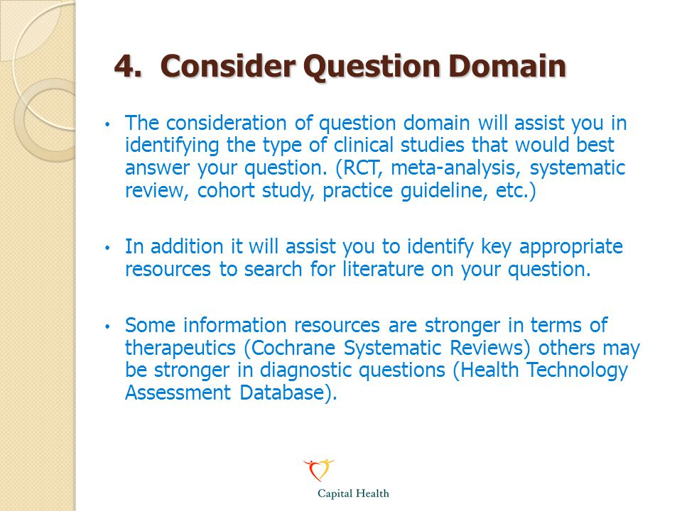 4. Consider Question Domain
