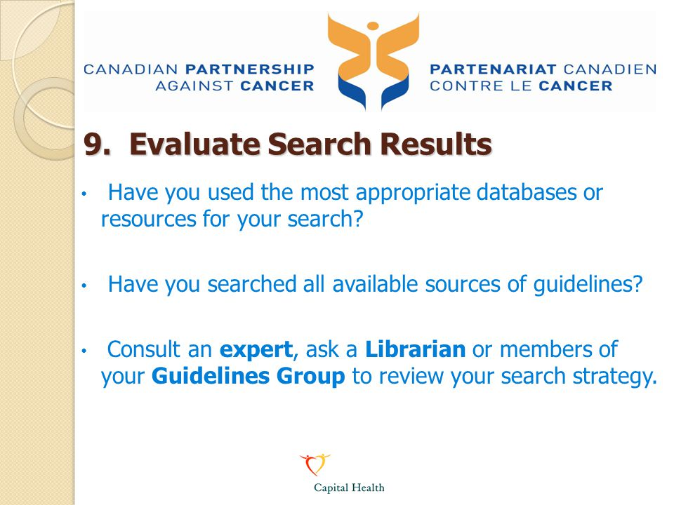 9. Evaluate Search Results