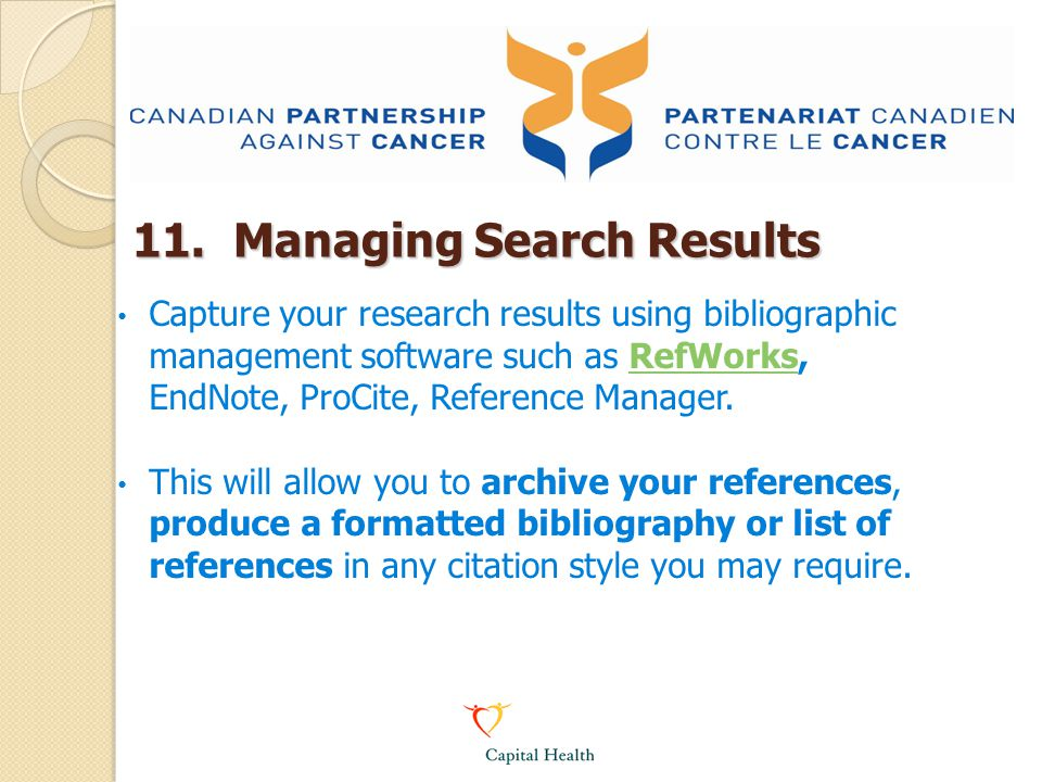 11. Managing Search Results