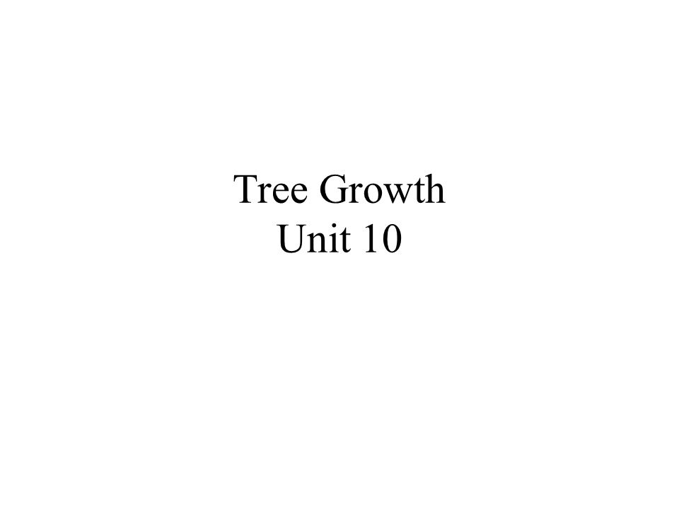 Tree Growth Unit 10