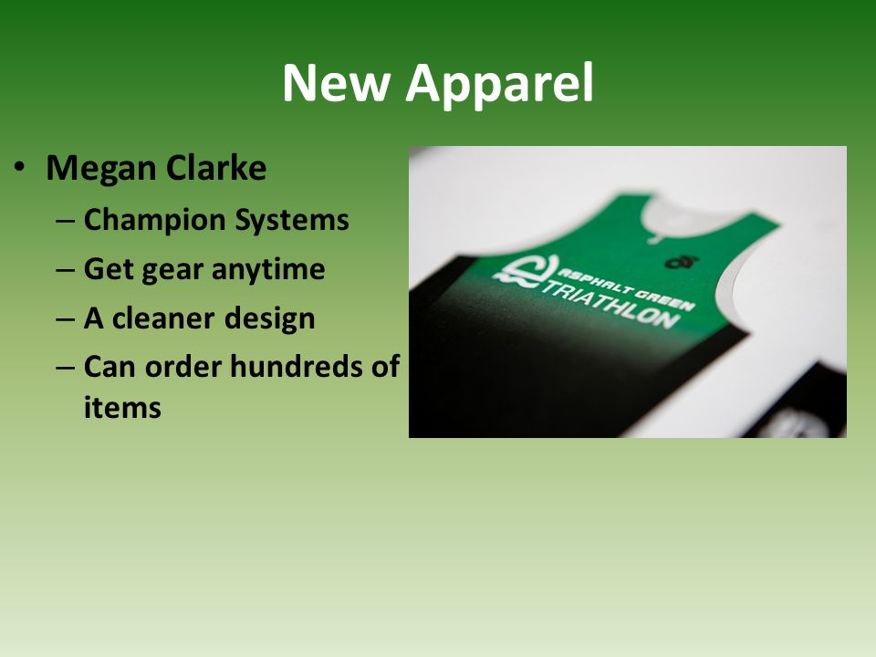 New Apparel Megan Clarke Champion Systems Get gear anytime