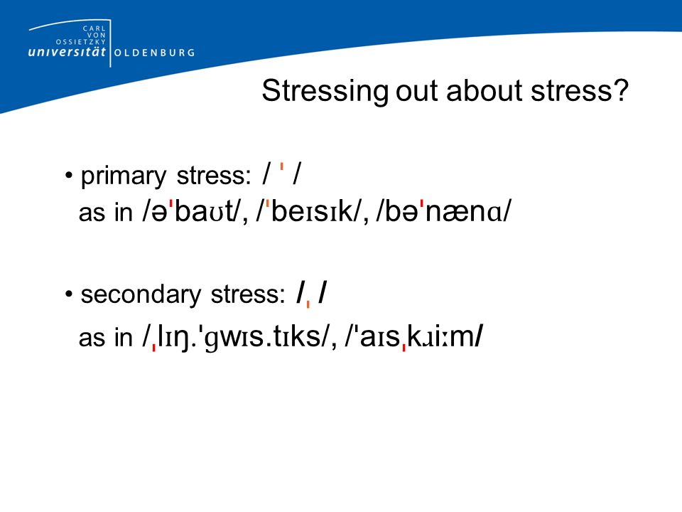 Stressing out about stress