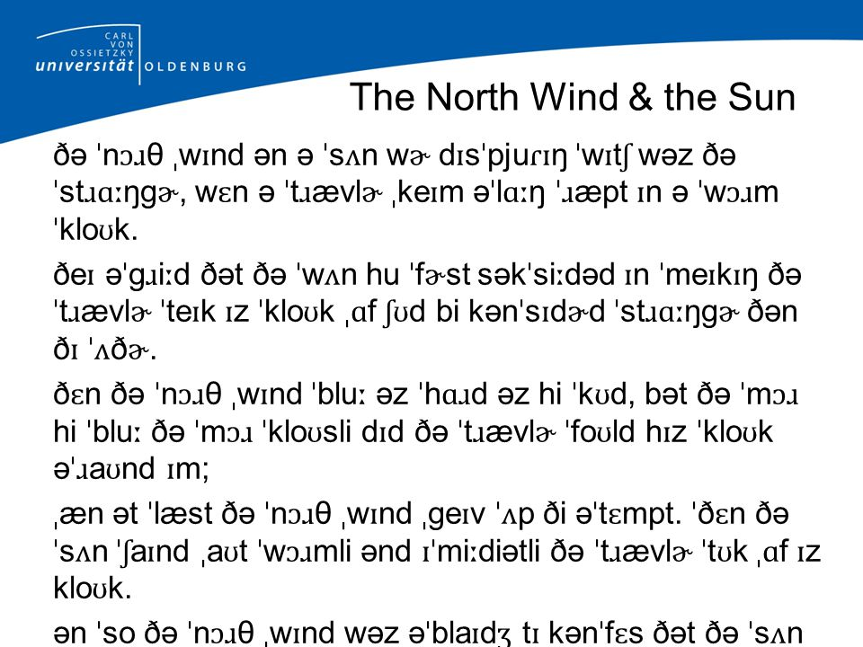 The North Wind & the Sun