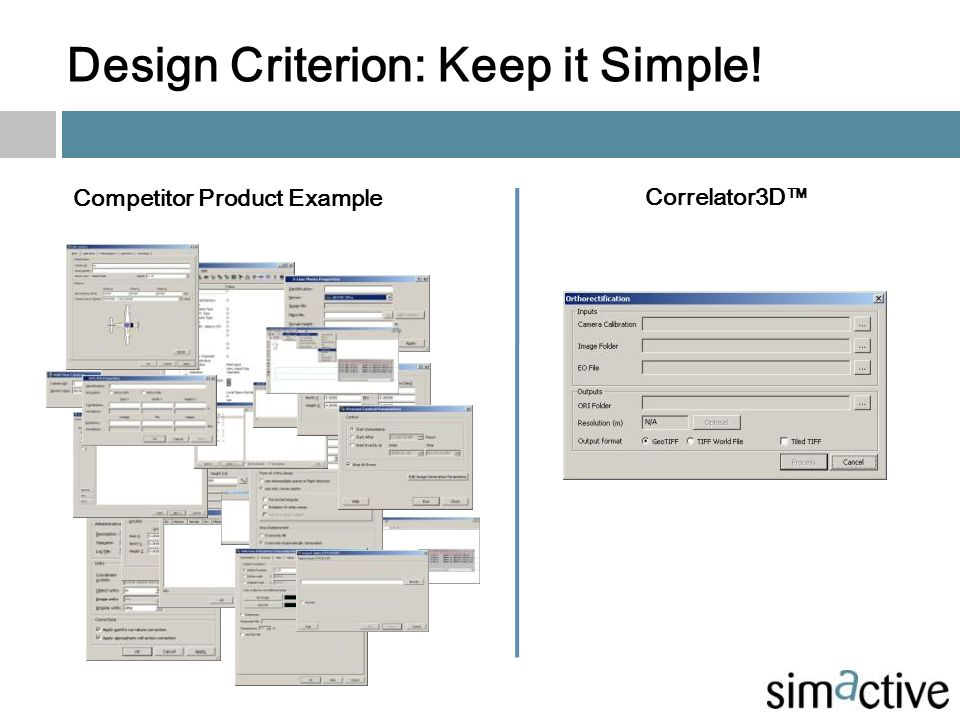 Design Criterion: Keep it Simple!