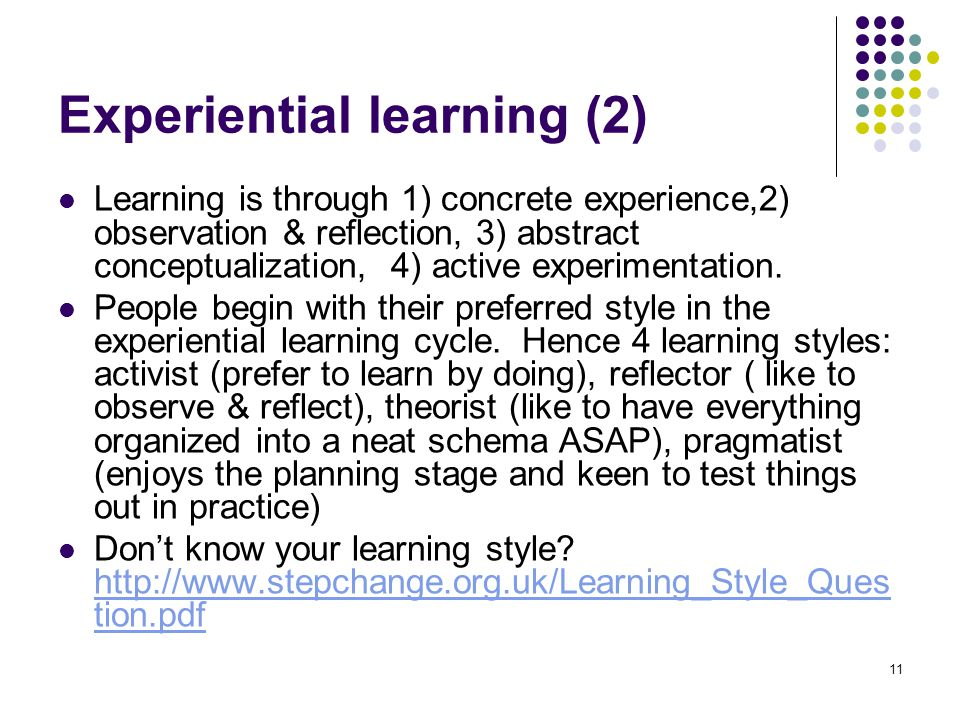 Experiential learning (2)