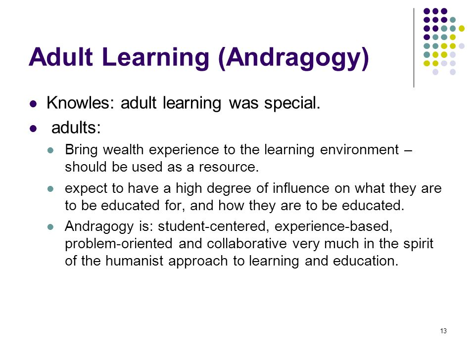 Adult Learning (Andragogy)