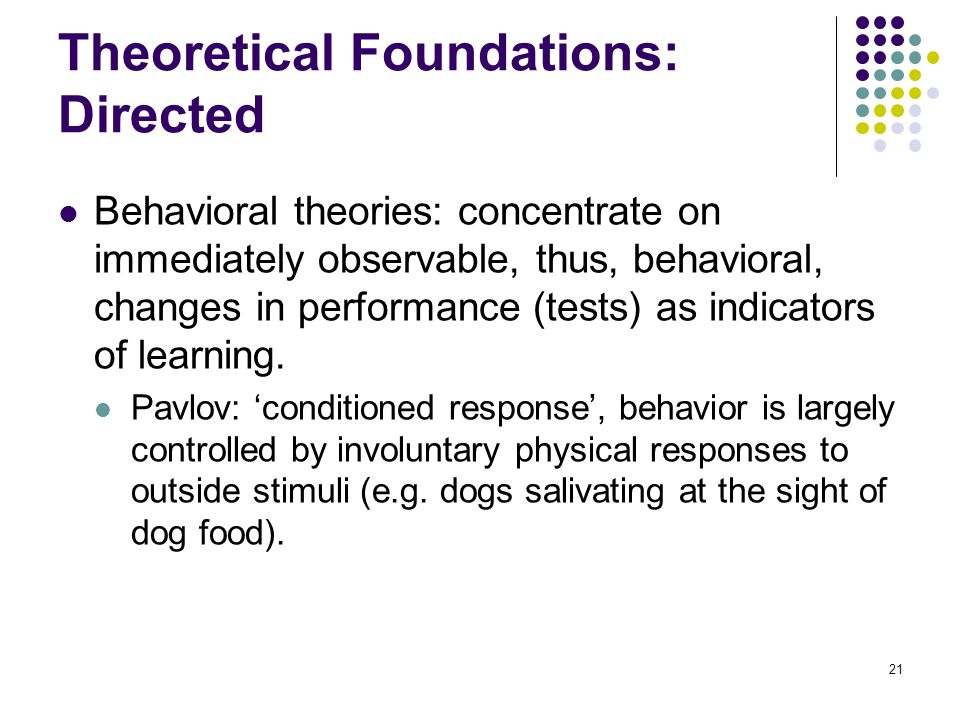 Theoretical Foundations: Directed