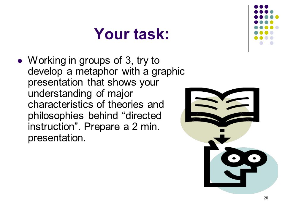Your task: