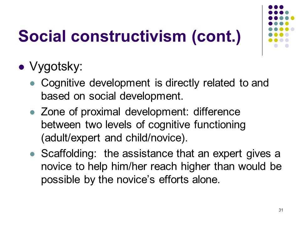 Social constructivism (cont.)