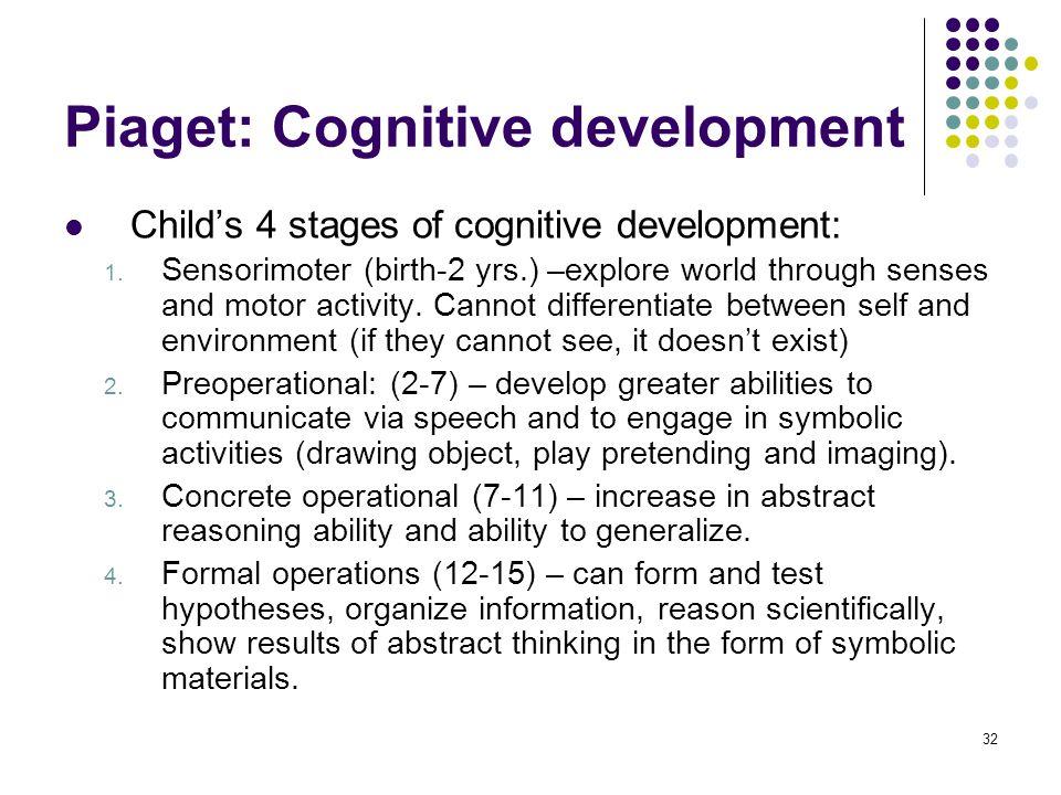 Piaget: Cognitive development