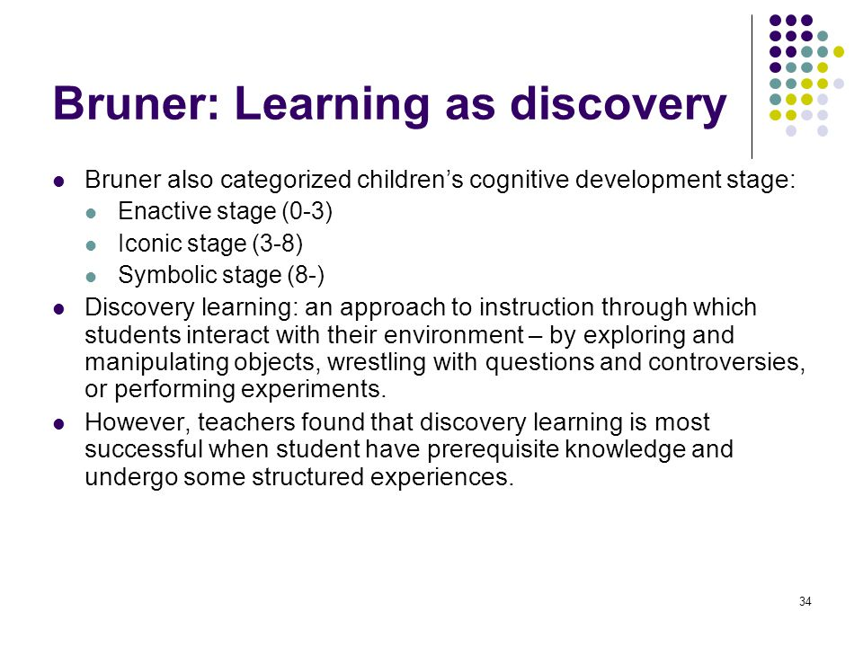 Bruner: Learning as discovery