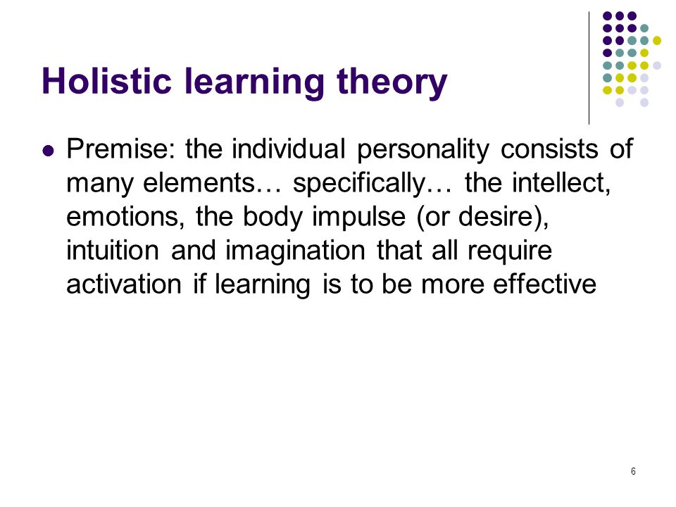 holistic learning theory